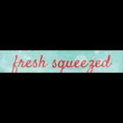 Peach Lemonade Freshly Squeezed Word Art Snippet