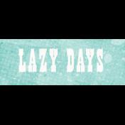 Peach Lemonade Lazy Day Word Art Snippet