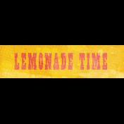 Peach Lemonade- Lemonade Time Word Art Snippet