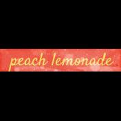 Peach Lemonade Word Art Snippet