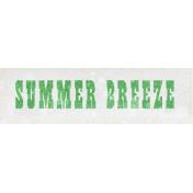 Peach Lemonade Summer Breeze Word Art Snippet