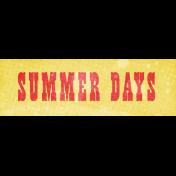 Peach Lemonade Summer Days Word Art Snippet