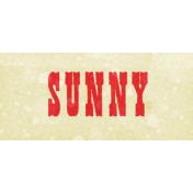 Peach Lemonade Sunny Word Art Snippet
