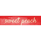 Peach Lemonade Sweet Peach Word Art Snippet