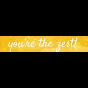 Peach Lemonade You're the Zest Word Art Snippet