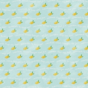 Peach Lemonade Summer Lemons Paper