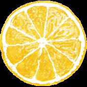 Peach Lemonade Lemon Slice