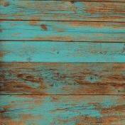 Nantucket Feeling {Sail Away} Teal Wood Paper