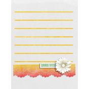 Peach Lemonade Lace Journal Card 3x4
