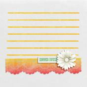 Peach Lemonade Lace Journal Card 4x4
