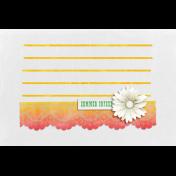Peach Lemonade Lace Journal Card 4x6