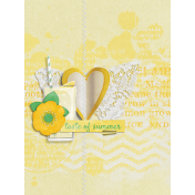 Peach Lemonade Glass Journal Card 3x4