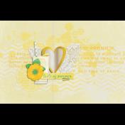 Peach Lemonade Glass Journal Card 4x6
