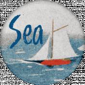 Nantucket Feeling {Sail Away} Sailboat Sticker