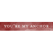 Nantucket Feeling {Sail Away} My Anchor Word Snippet
