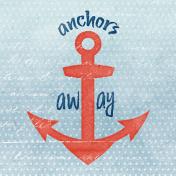 Nantucket Feeling {Sail Away} Anchor 4x4 Journal Card