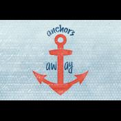 Nantucket Feeling {Sail Away} Anchor 4x6 Journal Card