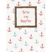 Nantucket Feeling {Sail Away} Happy Place 3x4 Journal Card