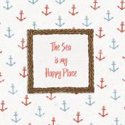 Nantucket Feeling {Sail Away} Happy Place 4x4 Journal Card