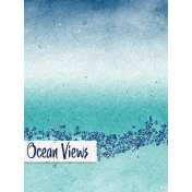 Nantucket Feeling {Sail Away} Ocean Views 3x4 Journal Card