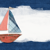 Nantucket Feeling {Sail Away} Sailboat 4x4 Journal Card