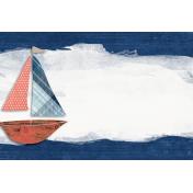 Nantucket Feeling {Sail Away} Sailboat 4x6 Journal Card