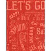Nantucket Feeling {Sail Away} Words 3x4 Journal Card