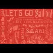 Nantucket Feeling {Sail Away} Words 4x6 Journal Card