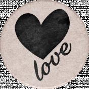 Cherish Round Love Sticker