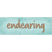 Cherish Endearing Word Art