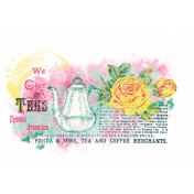 Tea in the Garden Paint Transfer