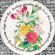 Tea in the Garden Floral Round Sticker