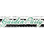 Tea in the Garden Word Art- Garden Party