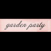 Tea in the Garden- Garden Party Word Art Snippet