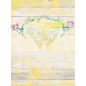 "Tea in the Garden Best of Friends Journal Card 3"" x 4"""
