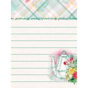 """Tea in the Garden Teapot Journal Card 3"""" x 4"""""""