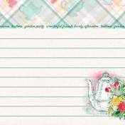 """Tea in the Garden Teapot Journal Card 4"""" x 4"""""""