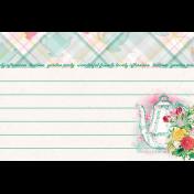 """Tea in the Garden Teapot Journal Card 4"""" x 6"""""""