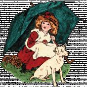 Furry Cuddles Girl & Pup Ephemera