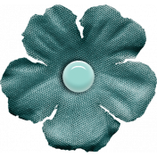 Furry Cuddles Teal Flower