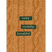 "Furry Cuddles Cozy Sweater Journal Card 3""x4"""