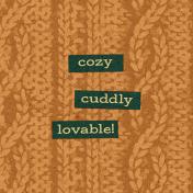 "Furry Cuddles Cozy Sweater Journal Card 4""x4"""