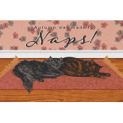 """Furry Cuddles Autumn was Made for Naps Journal Card 4""""x6"""""""