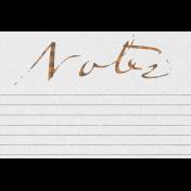 "Furry Cuddles Notes Journal Card 4""x6"""