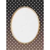 "Furry Cuddles Polka Dots Journal Card 3""x4"""