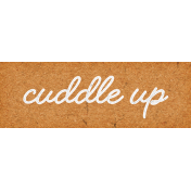 Furry Cuddles Cuddle Up Word Art Snippet
