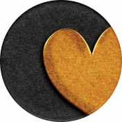 Heard The Buzz? Heart Round Sticker