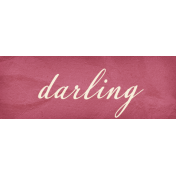 Heard The Buzz? Darling Word Art