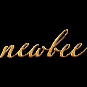 Heard The Buzz? Newbee Word Art