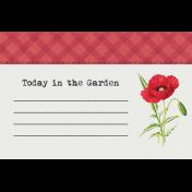 Bloom Revival Garden Journal Card 4x6